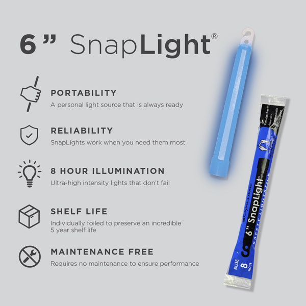 6 Inch Blue SnapLight - Specs