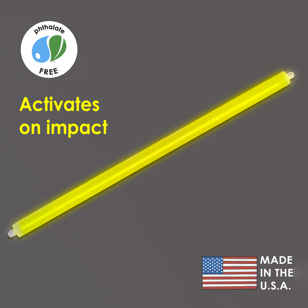 15″ Yellow Cyalume Impact Stick