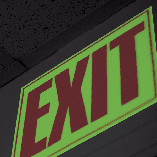 Cyflect Glow In The Dark Exit Sign Emergency Exit