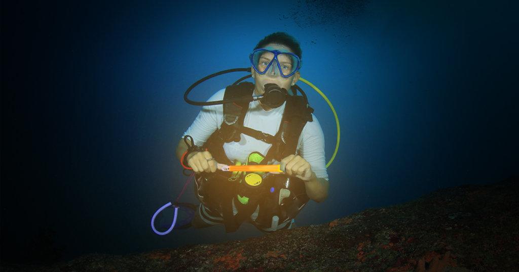 Glow Stick Under Water